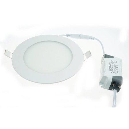 LED panel light 3W recessed round 90mm diameter white