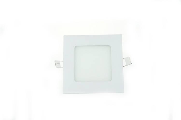LED panel light 6W recessed square 120x120mm white