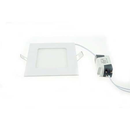 Dalle LED encastrable carrée 6W 120mmx120mm blanche