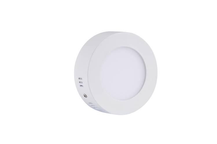 LED panel light surface mounted round 6W 122mm diameter