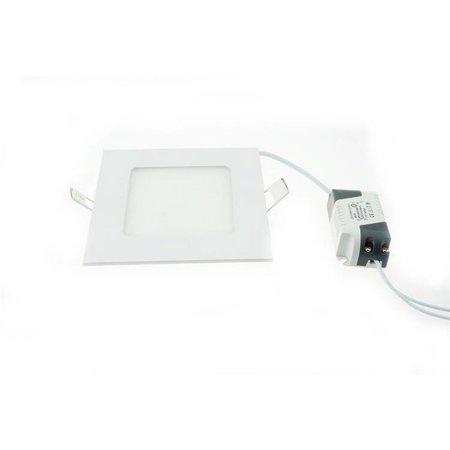 LED panel light 12W recessed square 170mm diameter white