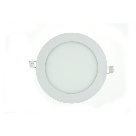 Dalle LED plafond ronde encastrable 15W 190mm diamètre