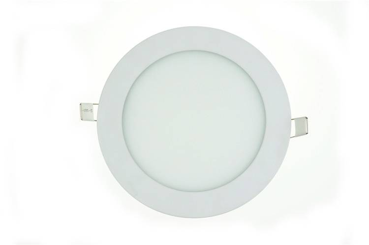 LED panel light 15W round recessed 190mm diameter white