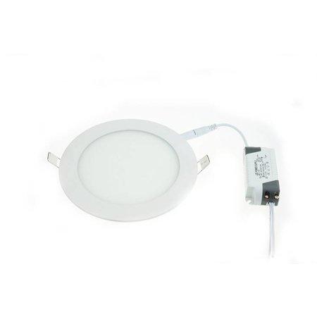 LED panel light 18W round recessed 223mm diameter white