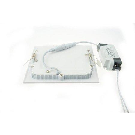 LED panel light 18W recessed square 225x225mm Ø white