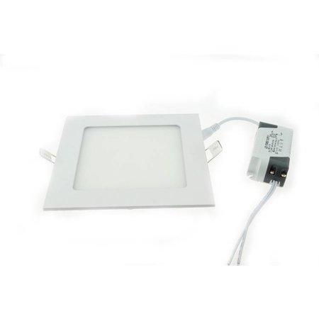 Dalle LED plafond encastrable carrée 18W 225x225mm