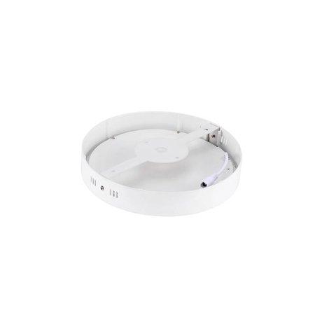 Dalle LED plafond ronde apparente 18W 225mm diamètre