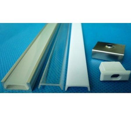 LED profile built-up 1m long 12mm wide with plexi