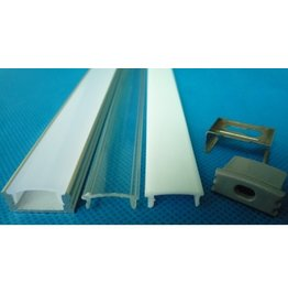 LED profile built-up 1m long 12mm wide with plexi 12mm high