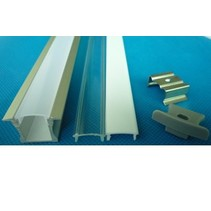 Profil LED encastrable 1m long 12mm large avec plexi 11mm haut