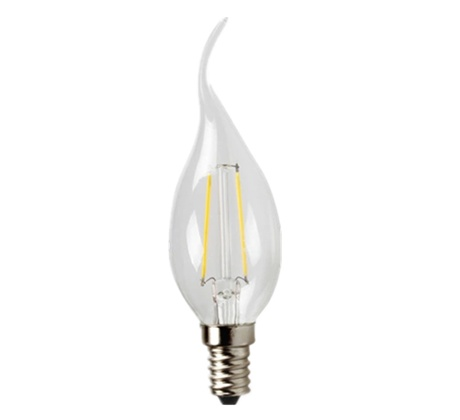 LED candle lamp filament with swan neck 3W