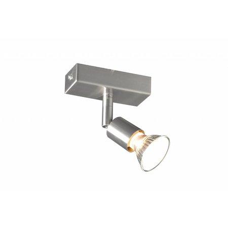 Ceiling light GU10 white, grey, bronze, glass support 100mm long