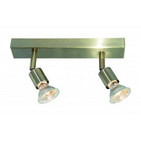 Ceiling light GU10x2 white, grey, bronze, glass support 250mm long