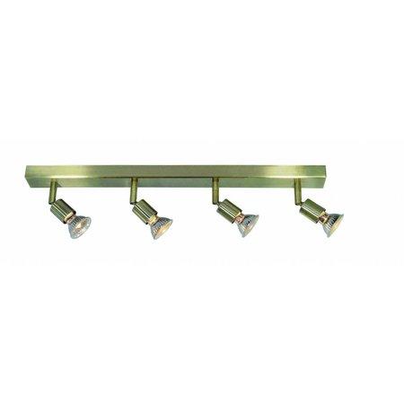 Plafondlamp GU10x4 wit, grijs, brons, glas 550mm lang