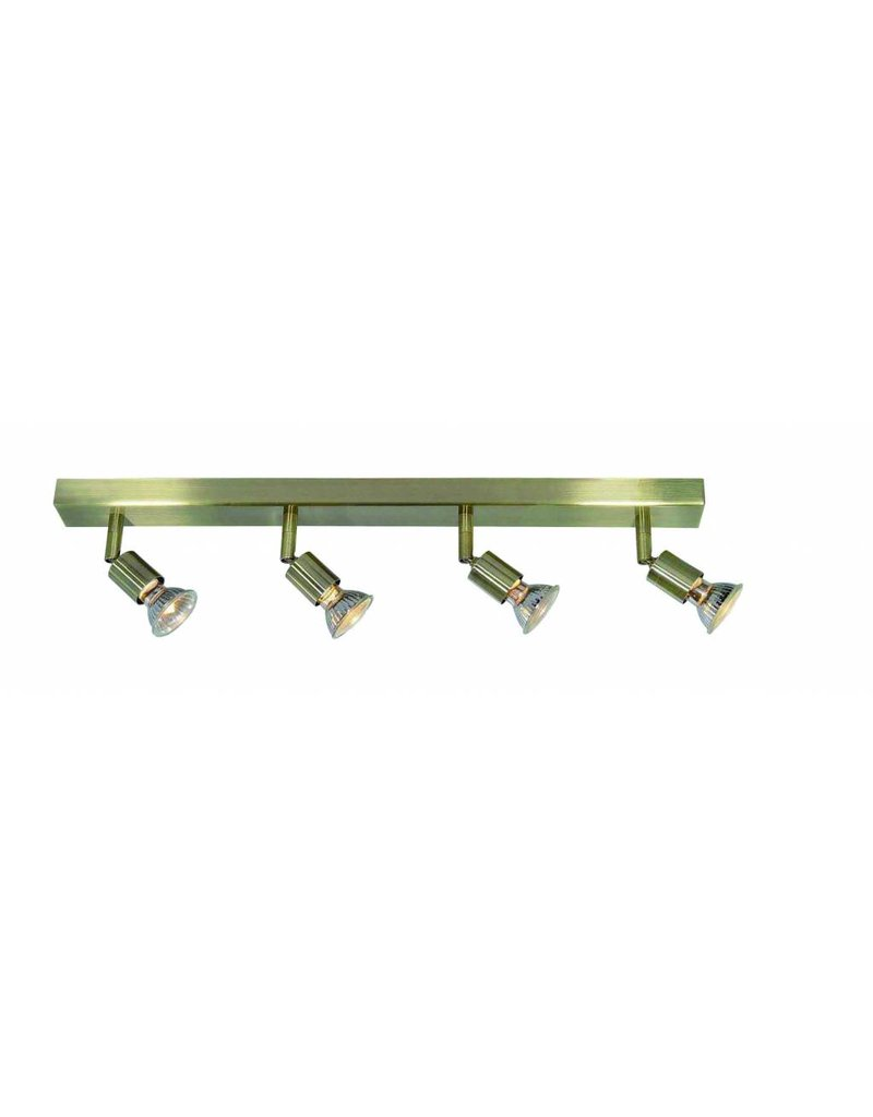 Ceiling light GU10x4 white, grey, bronze, glass support 550mm long