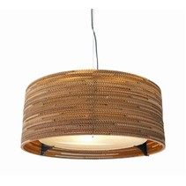 Pendant light design white or beige round cardboard Ø 92cm
