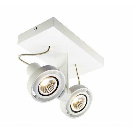 Plafonnier LED dimmable GU10 2x4,5W 190mm