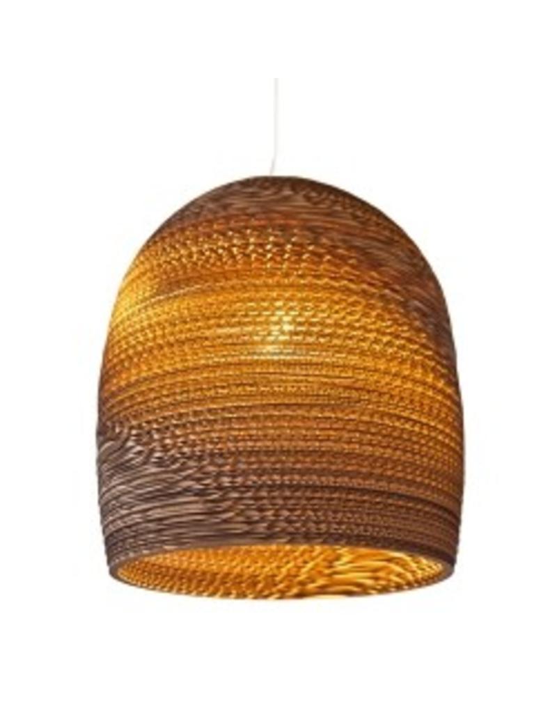 Hanglamp-karton wit of beige design karton