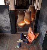 Hanglamp-karton wit of beige design vaas Ø 36cm E27