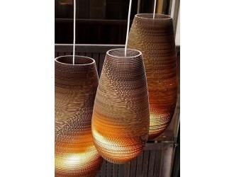 Pendant light design white-beige vase cardboard Ø 36cm