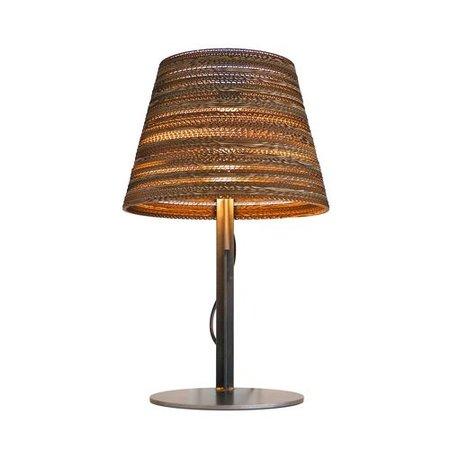 Desk lamp design white or beige cardboard Ø 34cm