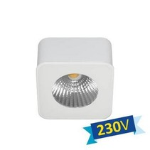Plafondlamp LED vierkant wit of zwart driverless 62mm 5W