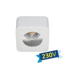 Plafonnier LED carré blanc ou noir sans transfo 62mm 5W