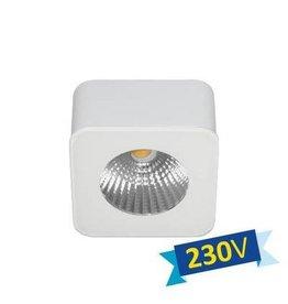 Ceiling light LED square white or black driverless 62mm 5W