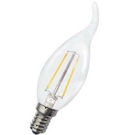 LED kaarslamp dimbaar 4W met zwaanhals kooldraad