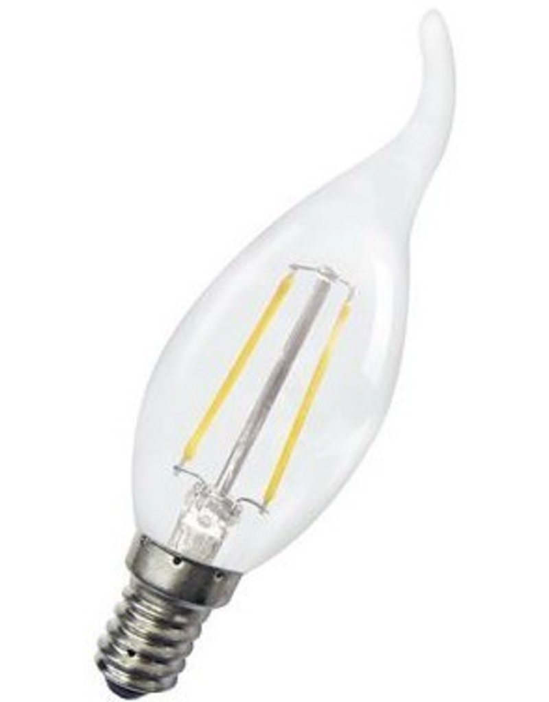 LED candle lamp dimmable 4W swan neck filament