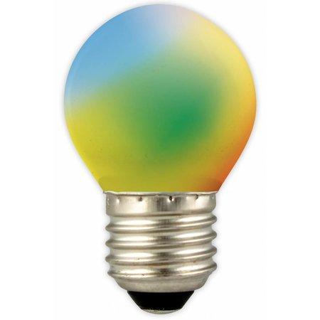 Gekleurde led kogellamp e27 1w blauw geel groen oranje for Gekleurde led lampen e27