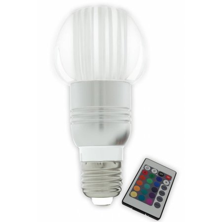 Gekleurde led lamp rgb e27 3w myplanetled for Gekleurde led lampen e27