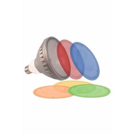 Ampoule LED couleur PAR38 18W avec différentes plaques colorées