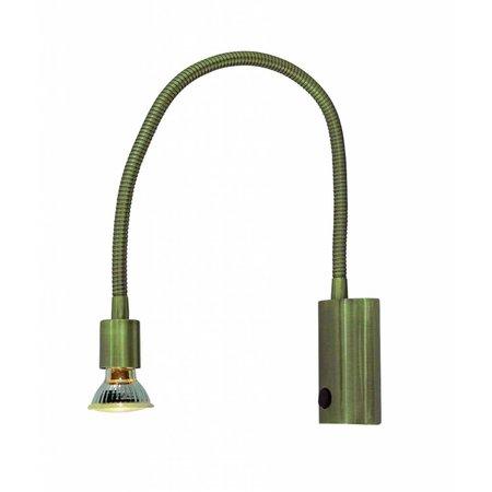 Wandlamp leeslampje flexibel GU10 665mm hoog