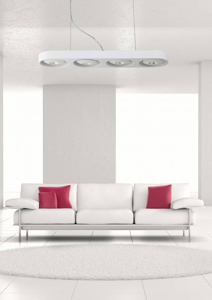 Populair Hanglamp boven eettafel wit design LED 4x5W 631mm breed | Myplanetled @TU27