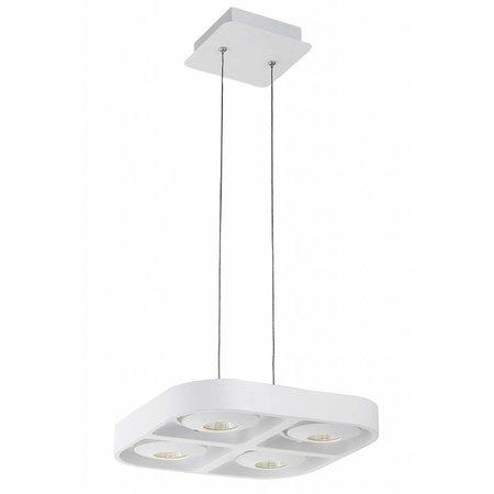 Hanglamp boven eettafel wit design LED 4x5W 302x302mm