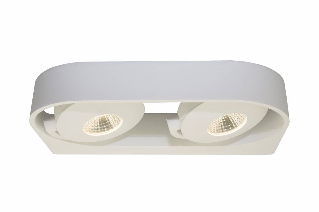 Wall light design white orientable 2x5W 286mm wide