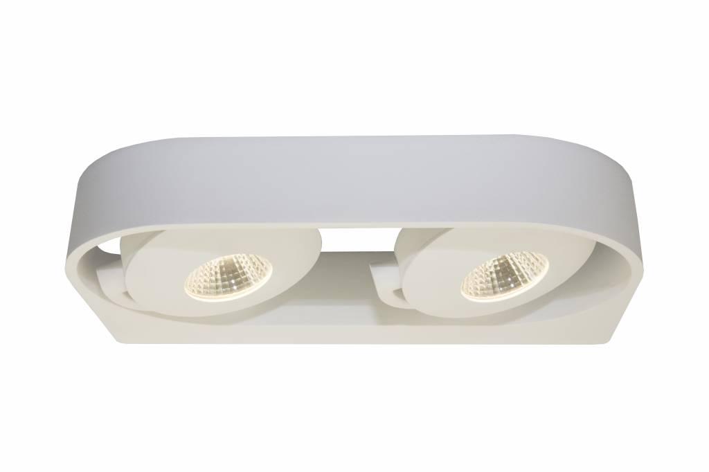Wandlamp woonkamer LED wit richtbaar 2x5W 286mm | Myplanetled