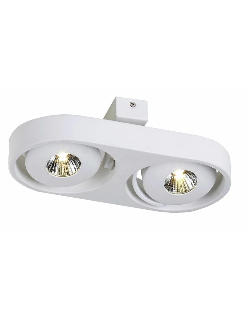 Ceiling light design LED white orientable 2x5W 308mm wide
