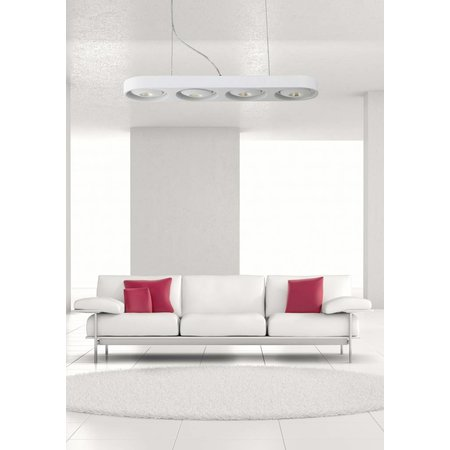 Pendant light design white LED 4x10W 895mm wide