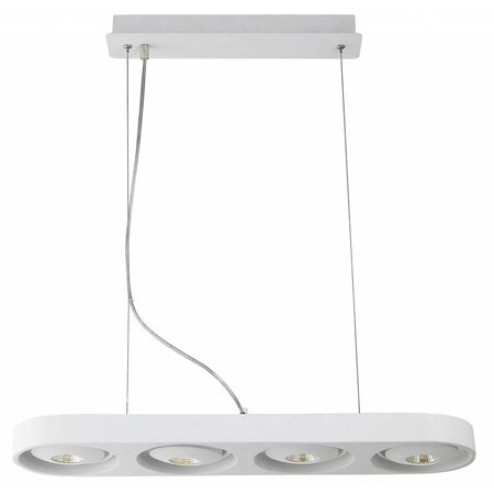 Hanglamp woonkamer wit design LED 4x10W 895mm breed