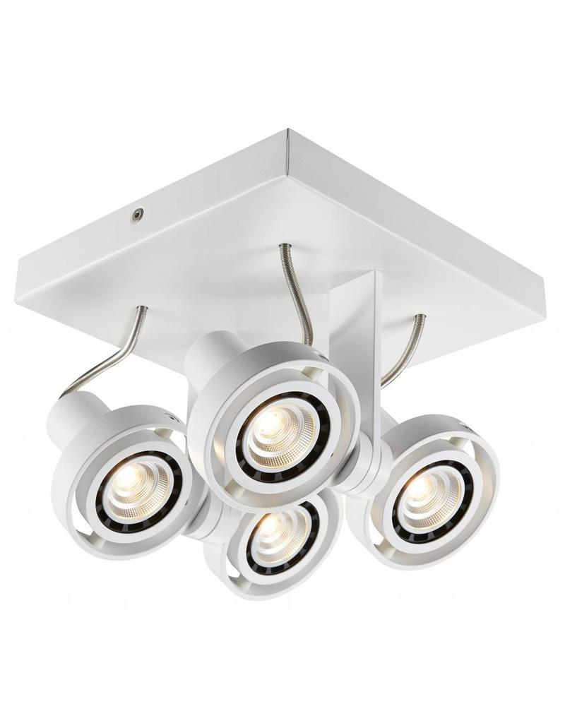 Ceiling light LED dimmable square GU10 4x4,5W 190mm