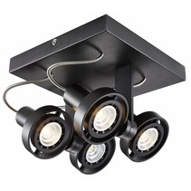 Plafonnier LED dimmable carré GU10 4x4,5W 190mm