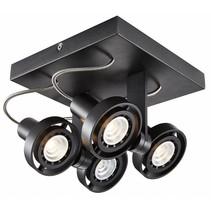 Plafonniere vierkant LED dimbaar GU10 4x4,5W 190mm