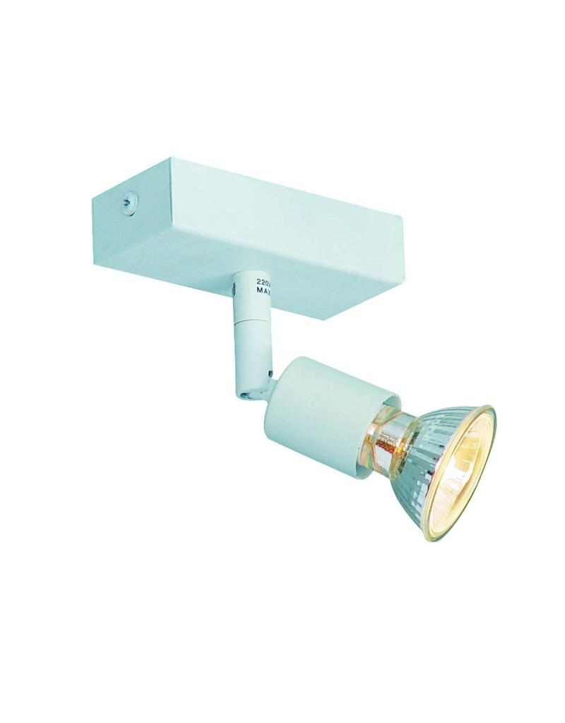 Ceiling light GU10 white, grey, bronze, glass support 100mm long