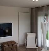 Plafonnier carré GU10x4 blanc, gris, bronze, support verre 200mm
