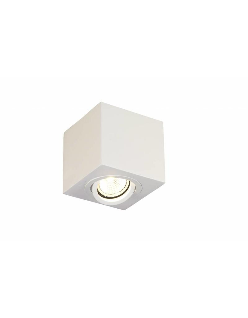 Ceiling light GU10 black-grey-white square spotlight 90mm