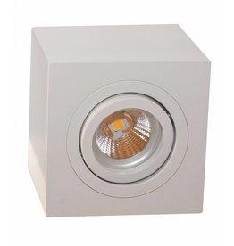 Ceiling light GU10 black-grey-white square spotlight 90mm