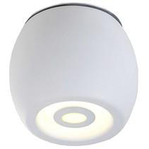 Plafonnier LED exterieur blanc ou noir dimmable 5W 112mm haut