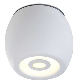 Plafondlamp LED buiten wit of zwart rond dimbaar 5W 112mm hoog
